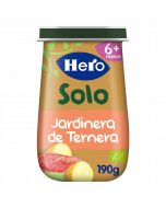 Tarritos Hero Baby Solo de Jardinera de Ternera ecológica