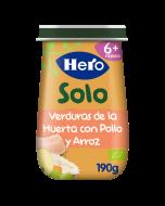 Tarritos Hero Baby Solo de Verdura de la huerta con Pollo y Arroz