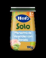 Tarritos Hero Baby Solo de Menestra de Verduras con Dorada ecológica