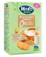Papillas Hero Baby 8 Cereales Galleta